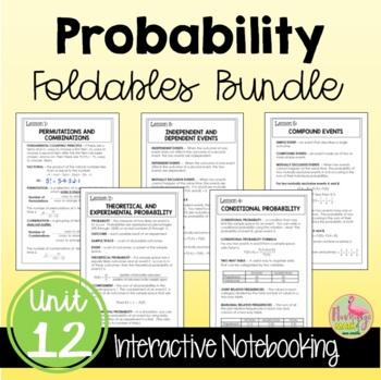 Algebra 2 Probability FOLDABLES® Bundle