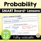 Probability SMART Board® Lessons (Algebra 2 - Unit 12)