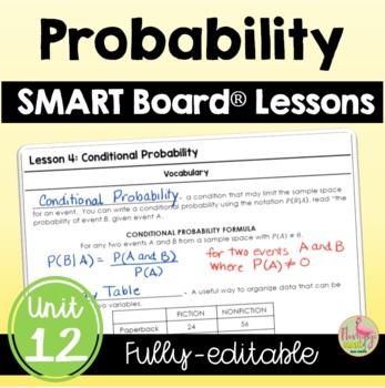 Probability SMARTBOARD Lessons Bundle