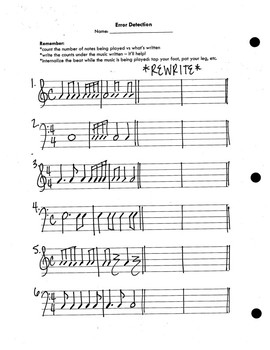 Unit 12 - Rhythmic Dictation and Error Detection Activity