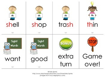 Unit 1.2 Spelling Game Cards for Scott Foresman's Reading Street
