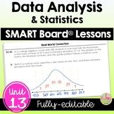 Data Analysis and Statistics SMART Board® Lessons (Algebra