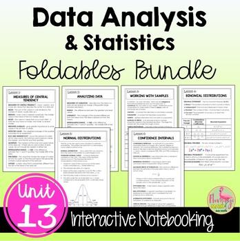 Algebra 2 Data Analysis and Statistics FOLDABLES® Bundle