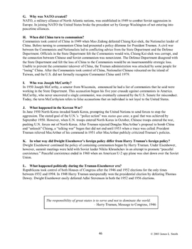 Unit 13: The Truman-Eisenhower Era, 1945-1961