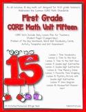 First Grade CORE Math Unit 15