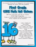 First Grade CORE Math Unit 16