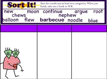 Unit 16 Sitton Spelling FlipChart Gr. 4