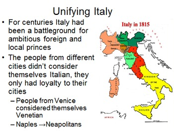 Unit 18: Nationalism/Unifications (World History/Global 10 Ch 21&23)