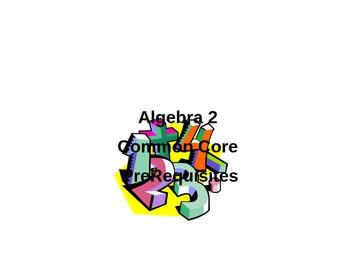 Unit 1A Prerequisite Power Points for Algebra 2 Common Core Concepts