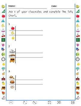 Unit 1Graphing Daily Warmup for  First Grade