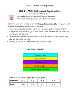 Unit 2 - 3rd Grade Math Expressions Self Paced Unit