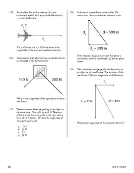 Unit 2 Activity 3 - Magnitude of Resultant of Two Perpendicular Vectors