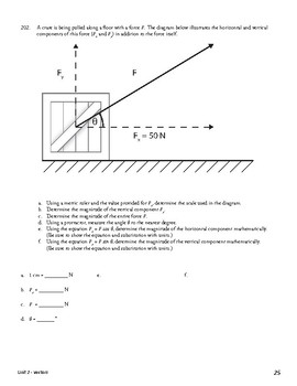 Unit 2 Activity 6 - Determining Horizontal and Vertical Components