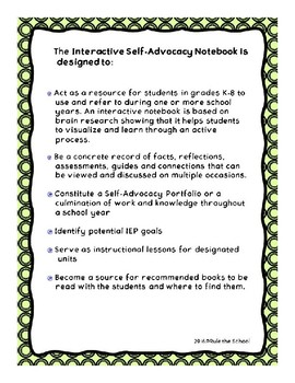 Unit 2 - Anatomy - Interactive Self-Advocacy Notebook