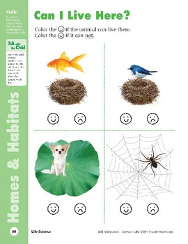 Unit 2: Animal Homes (Skill Sharpeners: Science)