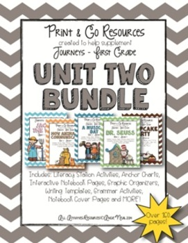 Unit 2 Bundle Journeys First Grade Print and Go