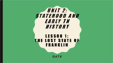 Unit 2 Bundle - Statehood and Early TN History - 5th Grade TN Social Studies