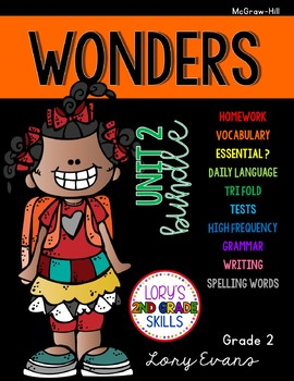 Unit 2 Bundle WONDERS 2nd Grade