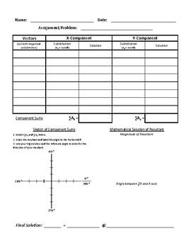 Unit 2 COMPLETE Problem Pack - Vectors