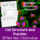 Unit 2: Cell Structure and Function Activities Bundle