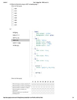 Unit 2 Coding Test - HTML and CSS (CODE.org)
