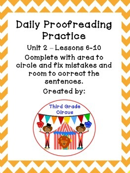 Unit 2 Daily Proofreading and Language Practice (DLP) for 3rd Grade Journeys