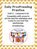 Unit 2 Daily Proofreading and Language Practice (DLP) for