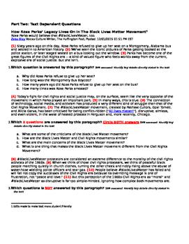 Unit 2: Day 7 (Black Lives Matter & Student Activism) Quiz