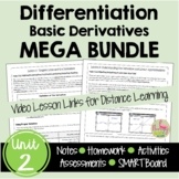 Calculus Differentiation MEGA Bundle (Unit 2)