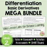 Calculus Differentiation MEGA Bundle (Unit 2)