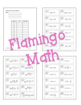 Calculus: Differentiation Review & Assessment Bundle