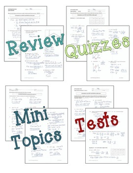 Calculus: Differentiation Activities and Assessments Bundle