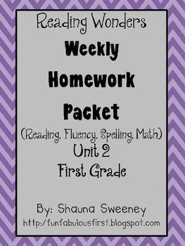 Unit 2 First Grade Homework Packet- McGraw Hill's Reading Wonders
