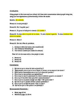 Unit 2 French 2 C'est a Toi Guided notes pack
