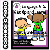 Wonders Unit 2 Get Up and Learn Sight Word Practice Slideshow and Assessment