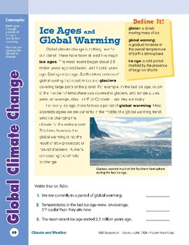 Unit 2: Global Climate Change: Concepts (Skill Sharpeners: Science)