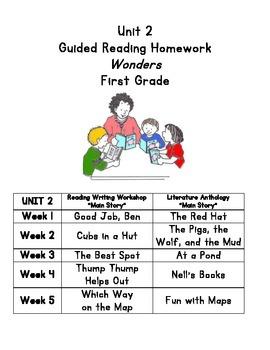 Unit 2 Guided Reading Homework Wonders Grade 1