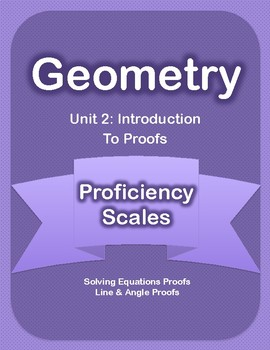 Unit 2 - Introduction to Proofs Proficiency Scales
