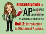 Unit 2: Introduction to Rhetorical Analysis
