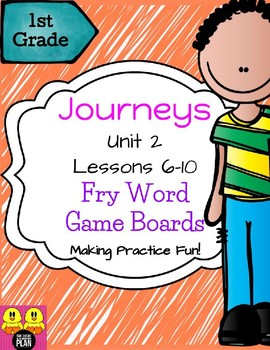 Unit 2 Journeys Fry Word Game