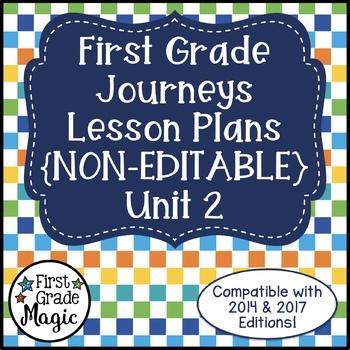 Journeys Lesson Plans First Grade Unit 2
