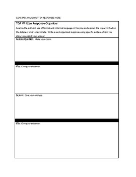 Unit 2  Journeys Stories Text based Analysis Questions for Writing