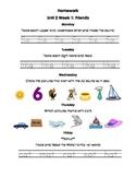 Unit 2 Kindergarten Treasures Reading Series Homework