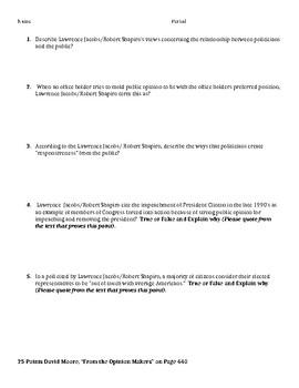 Unit 2 Lanahan Reading Jigsaw Public Opinion