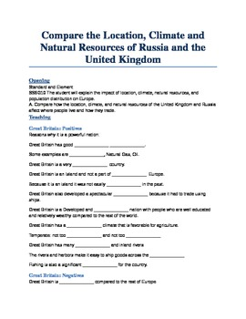 Unit 2: Lesson 2: Compare and Contrast Russia and the UK Power Point Guide