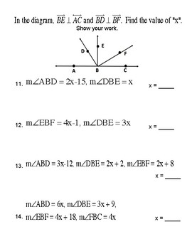 Unit 2 Lesson 5: Perpendicular Lines Worksheet