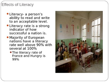 Unit 2: Lesson 6: European Literacy Rate