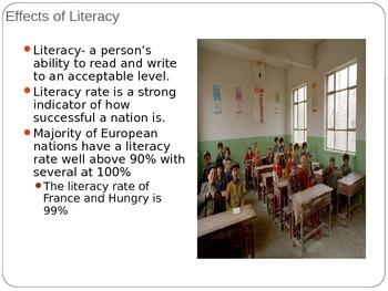 Unit 2: Lesson 6: European Literacy Rate