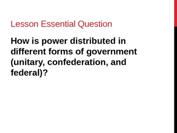 Unit 2: Lesson 7: Types of Governments (Unitary, Confedera