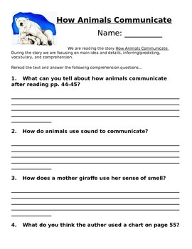 Unit 2 Lesson 7 1st Grade Journeys Comprehension Questions